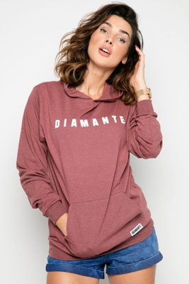 Bluza Diamante Unisex Light Hoodie ceglana