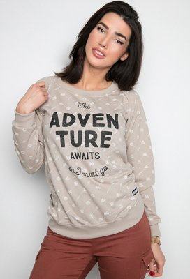 Bluza Diamante Wear Adventure Awaits beżowa