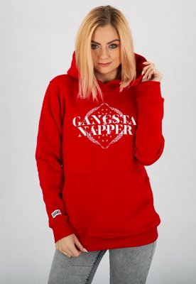 Bluza Diamante Wear Gangsta Napper czerwona