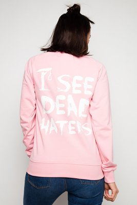 Bluza Diamante Wear I See Dead Haters różowa