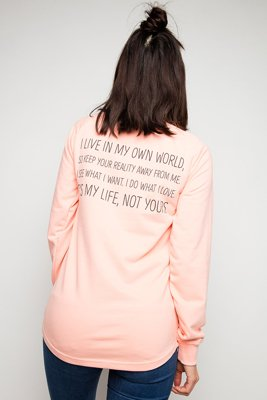 Bluza Diamante Wear My Life 2 łososiowa