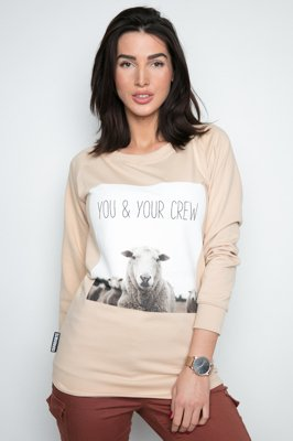 Bluza Diamante Wear You & Your Crew beżowa