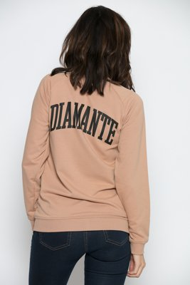 Bluza Diamante Wear Zip College beżowa