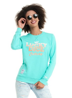 Bluza Lucky Dice Simple Dice RND miętowa