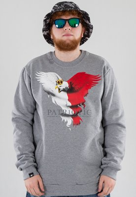 Bluza Patriotic Eagle New szara