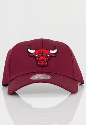 Czapka Flexfit Mitchell & Ness NBA UE Classic Chicago Bulls bordowa