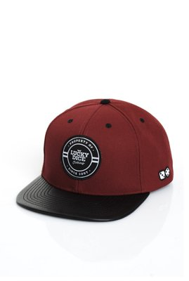 Czapka Snapback Lucky Dice Emblems bordowa