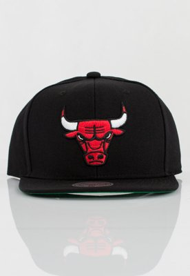Czapka Snapback Mitchell & Ness NBA Wool Solid Chicago Bulls czarna