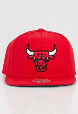 Czapka Snapback Mitchell & Ness NBA Wool Solid Chicago Bulls czerwona