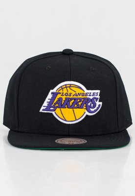 Czapka Snapback Mitchell & Ness NBA Wool Solid LA Lakers