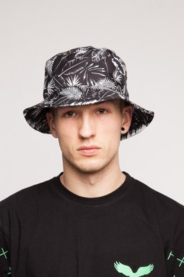Kapelusz Diamante Wear Black Palms Bucket Unisex