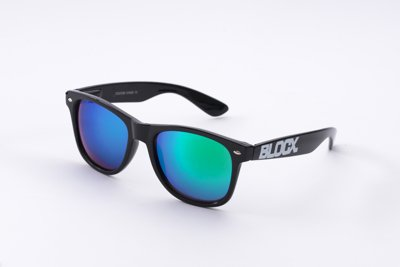 Okulary Blocx Black x Mirror Green P0A 333