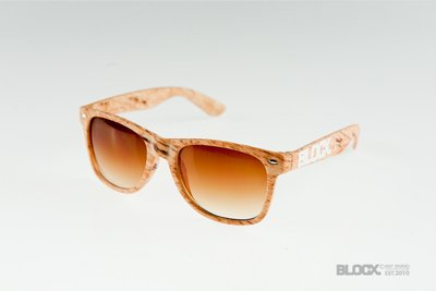 Okulary Blocx Woodlike Light Brown 109