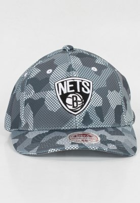Snap Mitchell & Ness NBA Carbon Camo Flexfit Brooklyn Nets