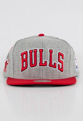 Snap Mitchell & Ness NBA Logo History Chicago Bulls szary