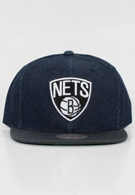 Snap Mitchell & Ness NBA Raw Denim Brooklyn Nets