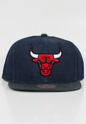 Snap Mitchell & Ness NBA Raw Denim Chicago Bulls