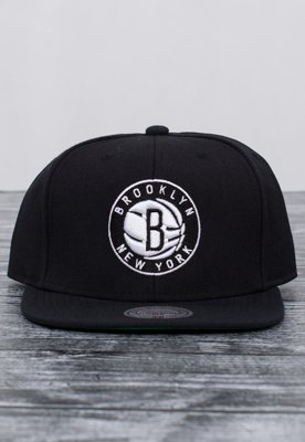 Snap Mitchell & Ness NBA Wool Solid Brooklyn Nets czarny