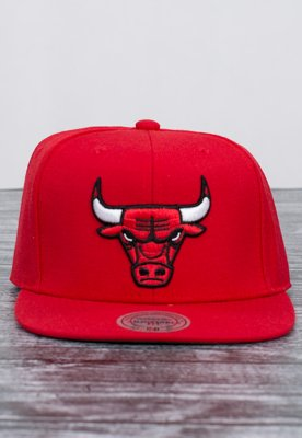Snap Mitchell & Ness NBA Wool Solid Chicago Bulls czerwony