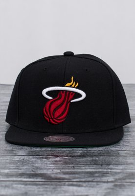 Snap Mitchell & Ness NBA Wool Solid Miami Heat czarny