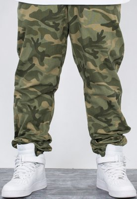 Spodnie El Polako Joggery Regular Cut Logo camo green