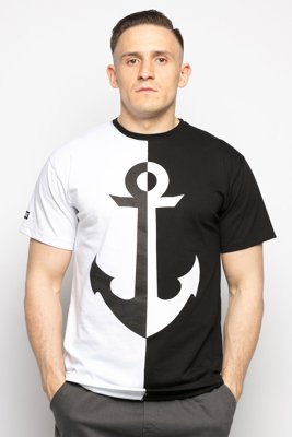 T-shirt Diamante Wear 2-Tone Anchor czarno biały