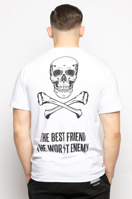 T-shirt Diamante Wear Best Friend, Worst Enemy biały