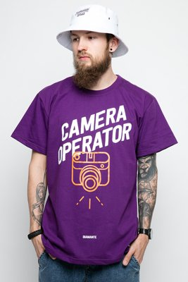 T-shirt Diamante Wear Camera Operator fioletowy