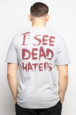 T-shirt Diamante Wear I See Dead Haters szary