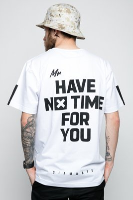 T-shirt Diamante Wear Mr. No Time biały