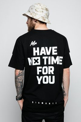 T-shirt Diamante Wear Mr. No Time czarny