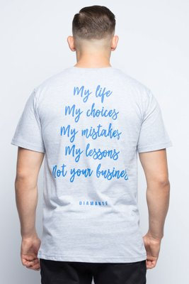 T-shirt Diamante Wear My Life szaro niebieski