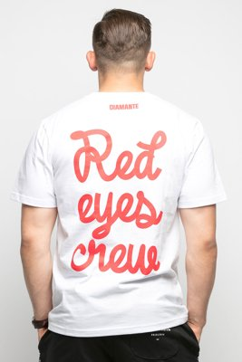 T-shirt Diamante Wear Red Eyes Crew biały