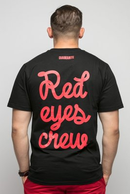 T-shirt Diamante Wear Red Eyes Crew czarny