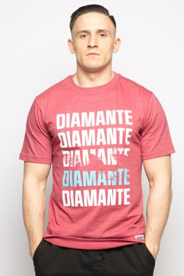 T-shirt Diamante Wear Scratch bordowy melanż