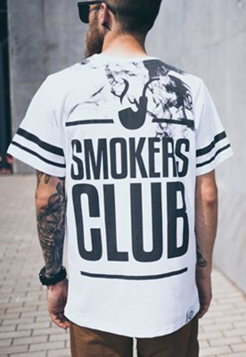 T-shirt Diamante Wear Smoke Up biały