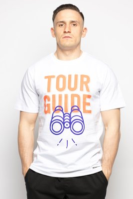 T-shirt Diamante Wear Tour Guide biały