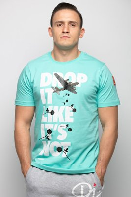 T-shirt Diamante Wear Unisex Drop It Like It's Hot miętowy