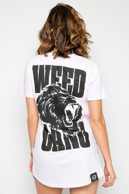 T-shirt Diamante Wear Weed Gang różowy