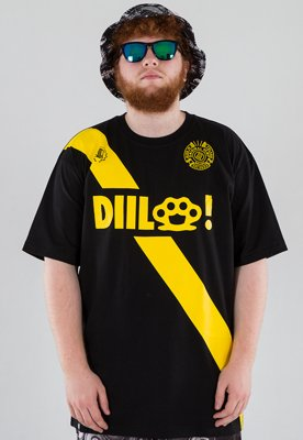 T-shirt Diil Strip czarny