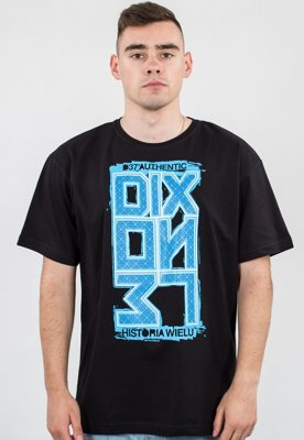 T-shirt Dixon37 Ornament czarny