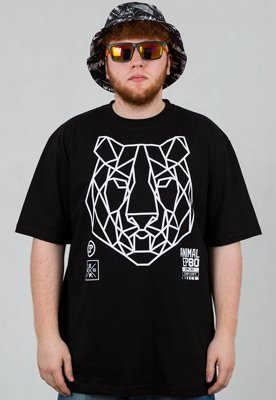 T-shirt El Polako Geometric Tiger czarny