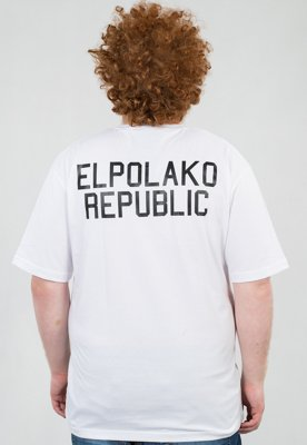 T-shirt El Polako Mini Republic biały