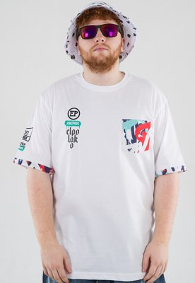 T-shirt El Polako Pocket Graffiti biały
