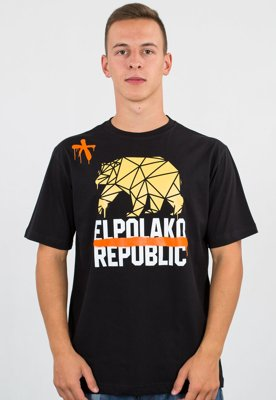 T-shirt El Polako Republic czarny