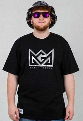 T-shirt Ganja Mafia Crown Reflect czarny