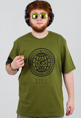 T-shirt Ganja Mafia Global Champion zielony
