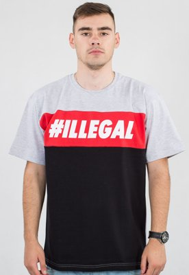 T-shirt Illegal Red szary