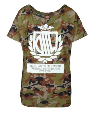 T-shirt Lady Diil Loose camo