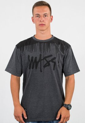 T-shirt Mass Drip Top ciemno szary